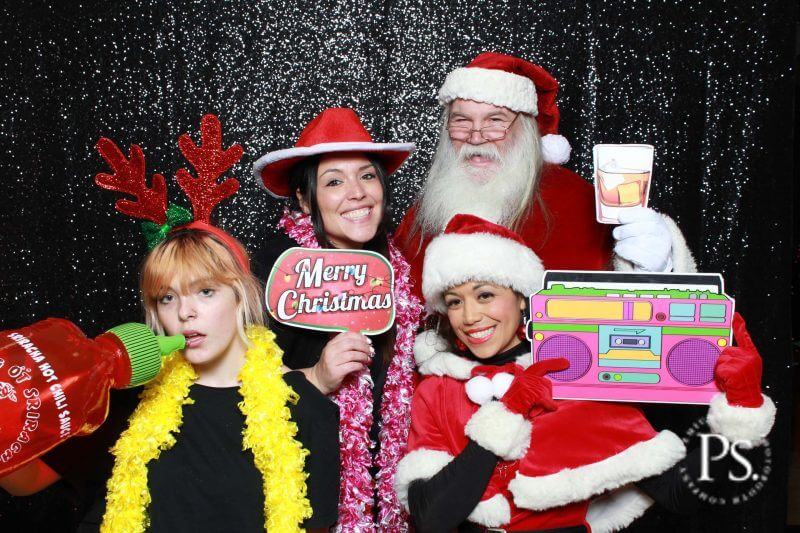 Santa clause christmas photo booth